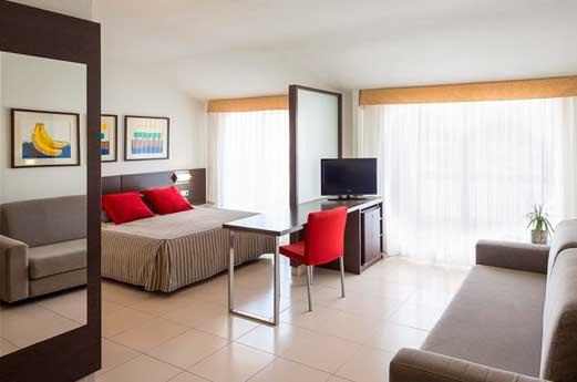 Aquahotel Montagut hotelkamer