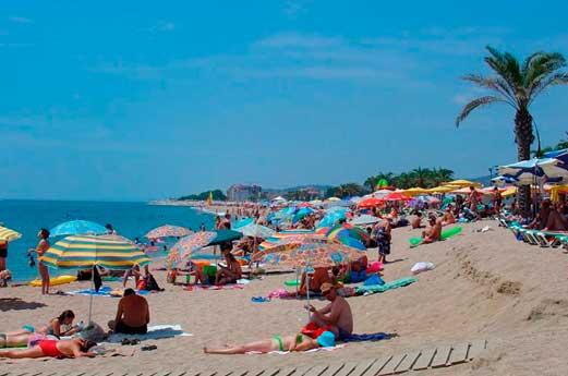 Aquahotel Montagut strand