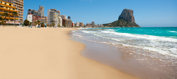 Stranden in Calpe
