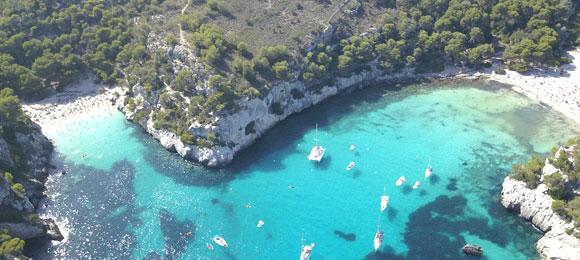 idyllische baai menorca