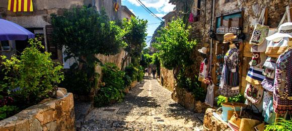 romantische straat tossa de mar