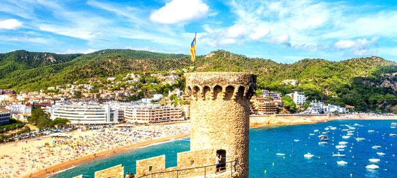 uitzicht kasteel tossa de mar