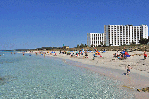 Hotel Sol Milanos Pinguinos Strand