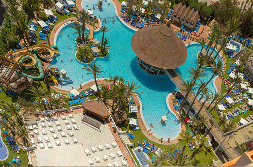 Magic Tropical Splash Aparthotel Zwembad